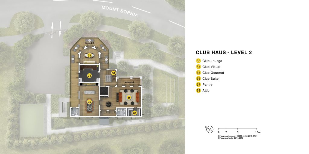 club house level 2 indoor plan