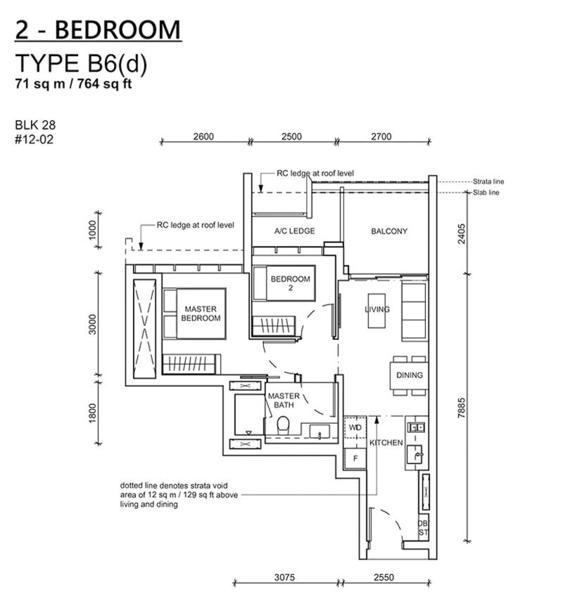 haus on handy floor plan_2br